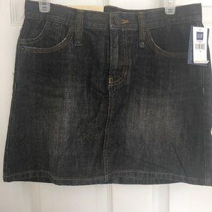 Gap Dark Denim Mini Skirt